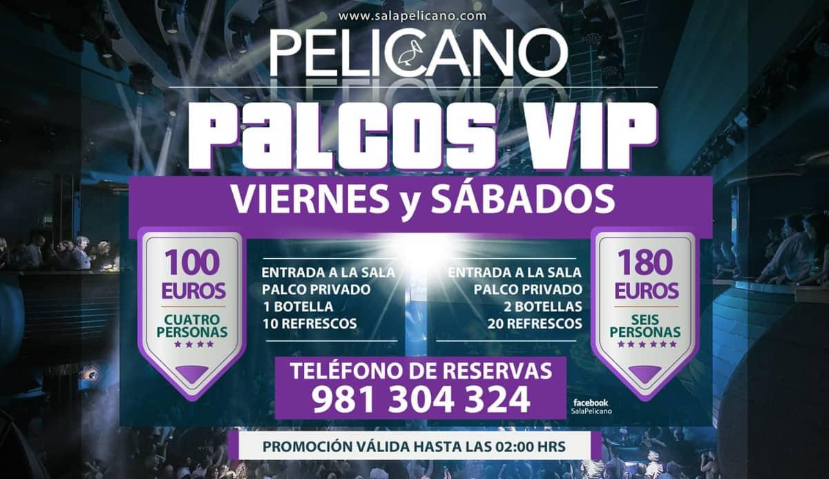 Palcos VIP Viernes Sabado
